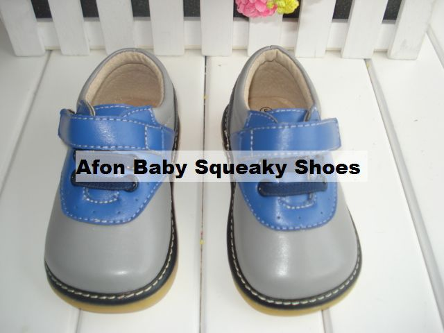 Baby boy Squeaky Shoes Firstwalker Blue Gry Toddler Baby boy Dress Shoes(China (Mainland))