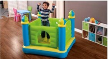 Intex Child inflatable toys trampoline household type trampoline indoor trampoline,size 132*132*107cm(China (Mainland))