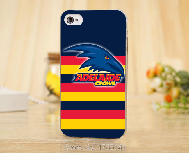 1pcs ADELAIDE CROWS LOGO hard Transparent Clear Skin Case for iphone 5 5s 4 4g 4S 5c Retail(China (Mainland))