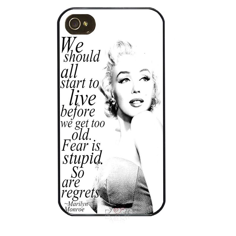Marilyn Monroe Quote Quotes Plastic #01 cellphone case cover fits for iphone 4/4s 5/5s 5c SE 6/6s plus ipod touch4/5/6(China (Mainland))