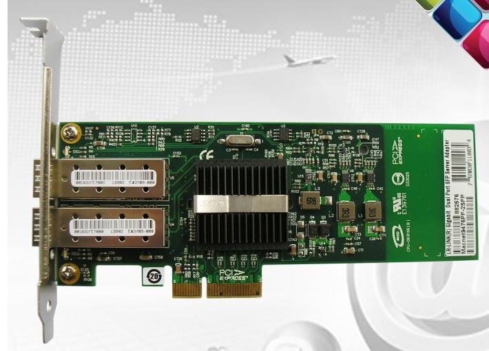 Pci-e gigabit sfp dual lc optical fiber network card intel82576 e1g42ef chip(China (Mainland))