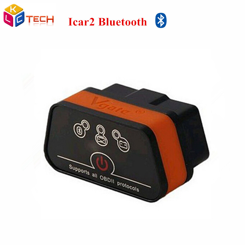 Whole-sales Vgate iCar2 Bluetooth OBD2 OBDII New Level ELM327 Bluetooth Auto Diagnostic Scanner Tool Support Android(China (Mainland))