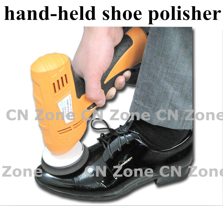 wholesale household shoe polisher electric mini hand-held portable Leather Polishing Equipment device automatic clean machine(China (Mainland))