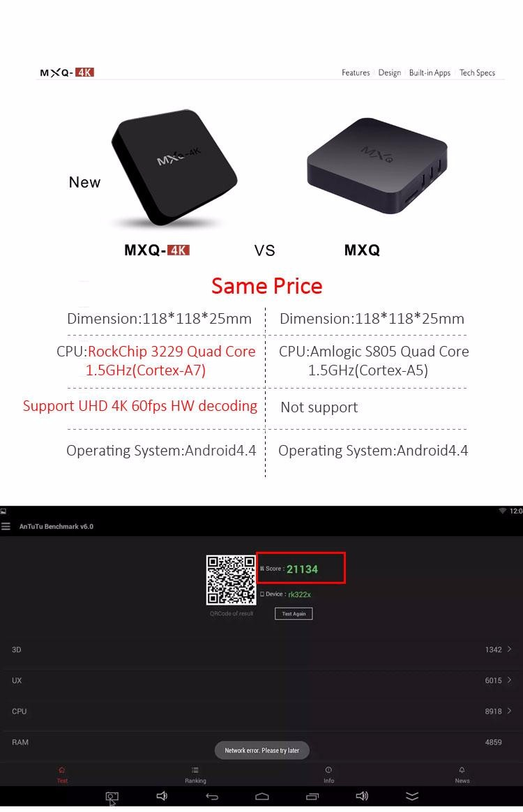 Tronsmart MXQ-4K RK3229 Smart Android TV Box 202098 19