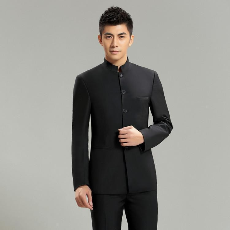 3 piece Mao Suit Chinese Tunic Slim Fit Casual Style Formal Business Wedding Suits for Men Tuxedo Quality Jacket+Pants+Shirt