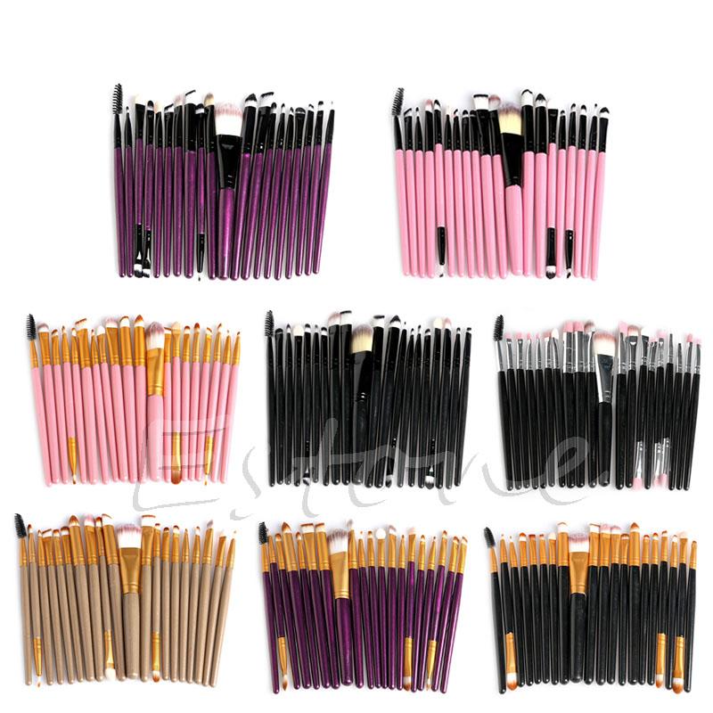 20 Pcs/Set Cosmetic Brushes Pro Powder Foundation Eyeshadow Eyeliner Lip Makeup(China (Mainland))