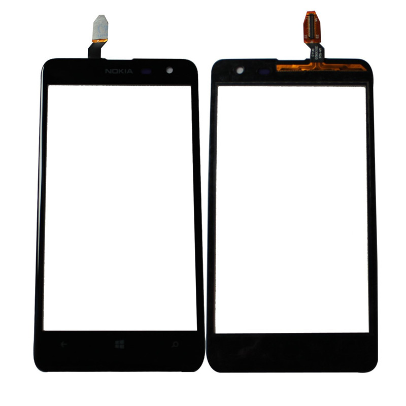 100% original Replacement Touch Screen Digitizer Glass lens For Nokia LUMIA 625 Sensor Touch panel Sensor Front Feeling Glass