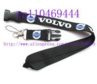 Hot 60 PCS  Volvo Car Logo Lanyard/ MP3/4 cell phone/ keychains /Neck Strap Lanyard WHOLESALE Free shipping