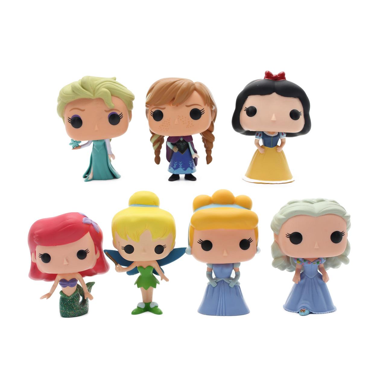 OPP 1pcs Funko Pop Princess Cinderella Tinker Bell Ariel Snow White Elsa Anna PVC Anime Movie Vinyl Cute Moedel Figure Toys(China (Mainland))