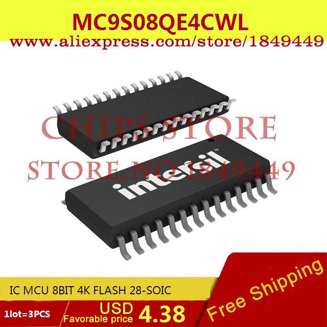 Бесплатная Доставка Горячей Продажи Smart Electronics Integrated Circuit MC9S08QE4CWL IC MCU 8BIT 4 К ФЛЭШ-28-SOIC 08QE4 9S08QE4 3 ШТ. бесплатная доставка горячей продажи smart electronics integrated circuit tlv3501aidrg4 ic comp r r 4 5ns hs 8 soic 3501 tlv3501 3 шт
