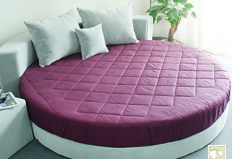 buy multicolor cotton round bed suitable