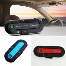 2016 High Quality Wireless Bluetooth Slim Magnetic Handsfree Car Kit Speaker Phone Visor Clip 3Color(China (Mainland))