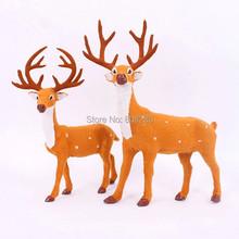 Новый год рождество 30 см и 35 см олень браун оленей стоя лося украшения помеченны рождественская елка счетчики доступны