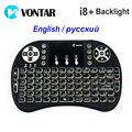 VONTAR Backlit i8 English Russian Backlight Mini Wireless Keyboard 2 4GHz Air Mouse Gaming Touchpad for