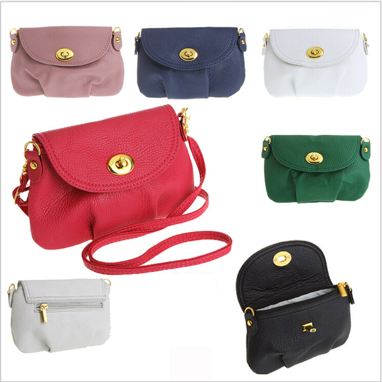 New 2015 Fashion Mini Small Women's Messenger bag Leather Handbags Shoulder bags Cross body Crossbody Bags Purses Cover zipper(China (Mainland))