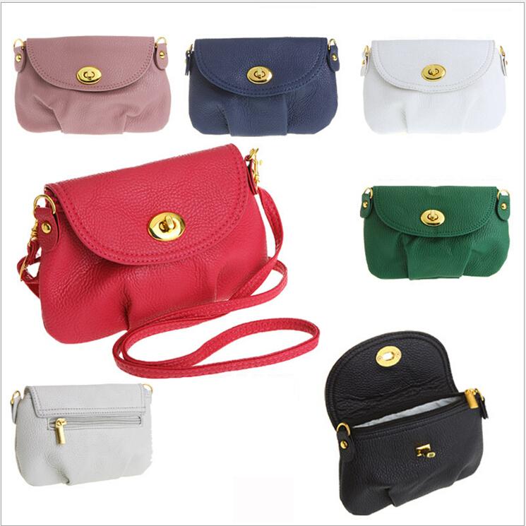 New 2015 Fashion Mini Small Women's Messenger bag Leather Handbags Shoulder bags Cross body Crossbody Bags Purses Cover zipper(China (Mainland))