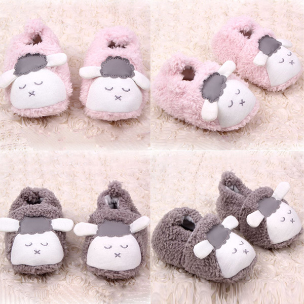 Lovely Baby Boys Girls Winter Warm Plush Booties Infant Soft Slipper Crib Shoes Free Shipping(China (Mainland))