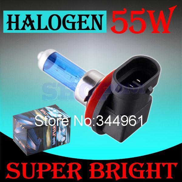 H11 55W 12V Super White Halogen Bulb Fog Lights High Power Car Headlights Lamp Car Light