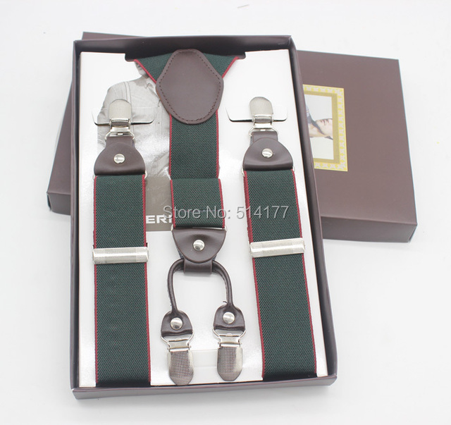 2015 армия человек подтяжки мода брекеты подарочная коробка Регулируемая 4 Клипы ...