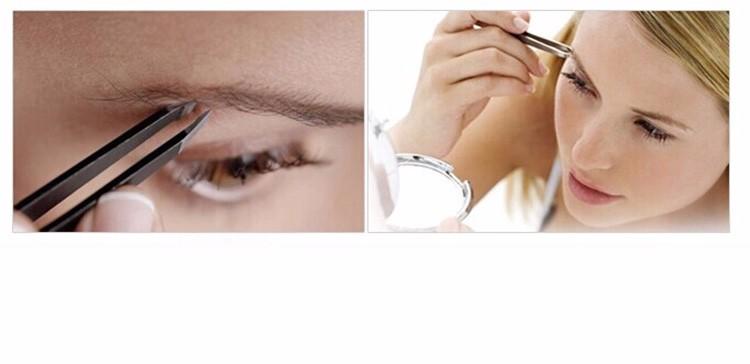 5Pcs/Set Aliexpress Fast Shipping With Rhinestone Best Professional Stainless Steel Slanted Women Girl Eye Brow EyeBrow Tweezer