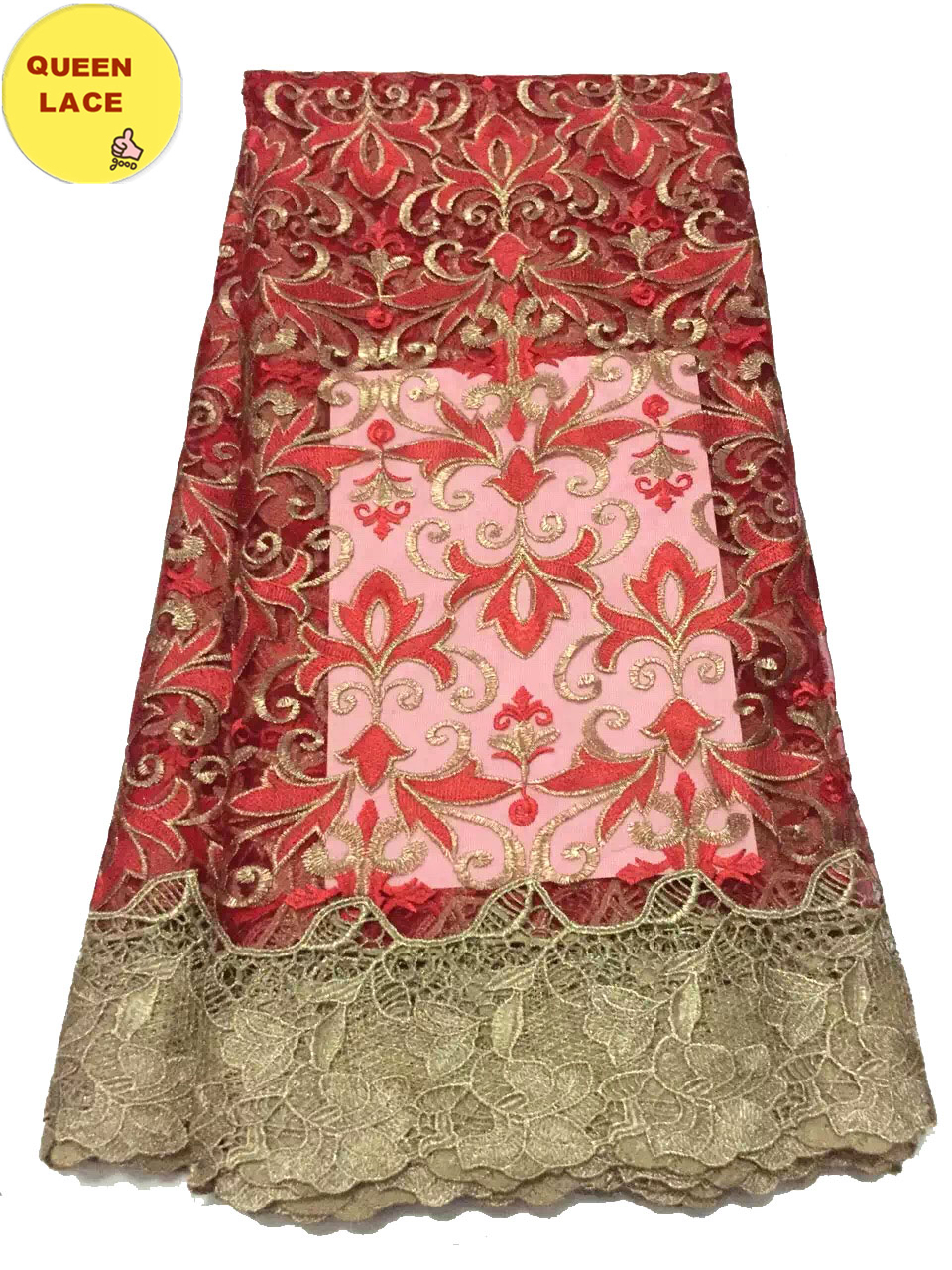 2016 Latest Nigerian Tulle Lace French Net Lace Fabrics Royalblue Guipure Lace Fabric For Wedding Dresses(China (Mainland))