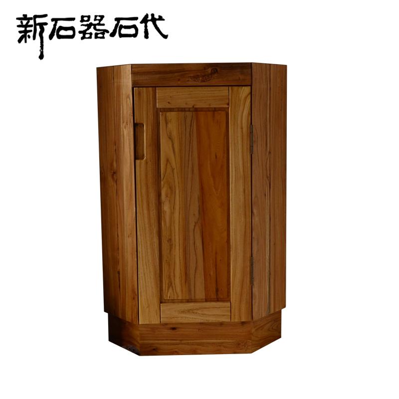Solid Wood Bathroom Cabinet Combination B1 4 Corner Cabinet Modern Minimalist