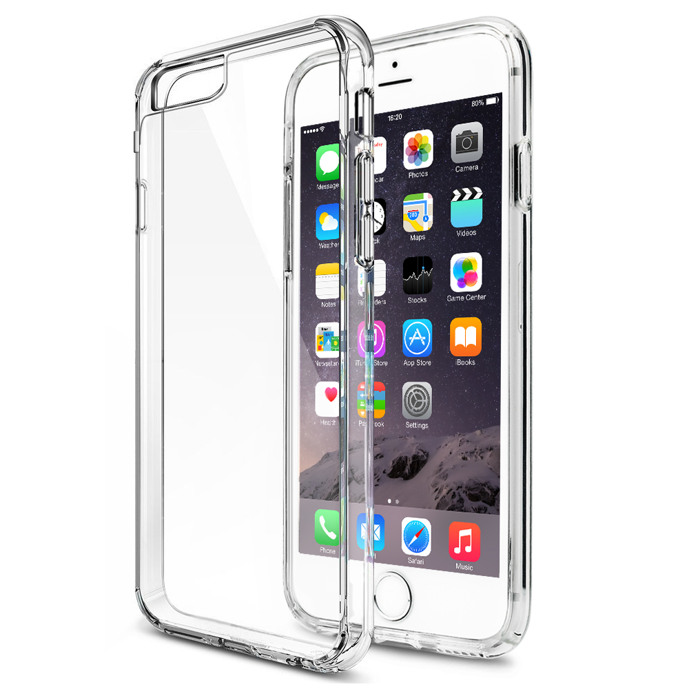 For iPhone 6 Case Premium Crystal Clear Scratch Resistant Back Panel Bumper Case Cover for iPhone 6 4.7 inch(China (Mainland))
