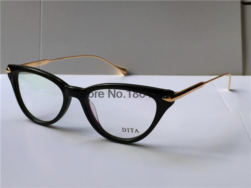 Small Frame Cateye Glasses : Dita Gold glasses - ChinaPrices.net