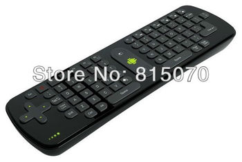 Wholesale Measy RC11 Mini Fly Air Mouse RC11 2.4GHz Wireless Keyboard for Google Android 4.0 Mini PC TV Box Dongle free shipping