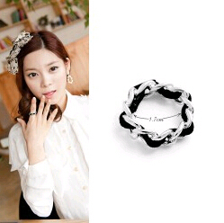 Wholesale Korean pop soft velvet rope unique straw ring material Extremely comfortable rings for women(China (Mainland))