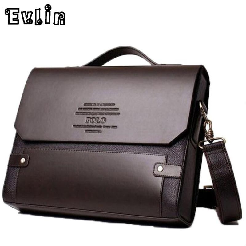 Leather Work Bag Men Images Flap Briefcase Brown