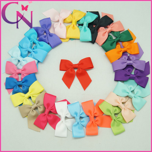 "Cute 3"" Small Grosgrain Ribbon Hair Bow Hair Clip For Baby Boutique Mini Cheer Bow For Toddler Girl Hair Accessories 25 Colors(China (Mainland))"