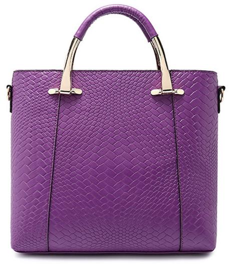 Women Bags Commuter Purple Zipper Women Messenger Bags Golden Alligator Elegant Black Handbags<br><br>Aliexpress