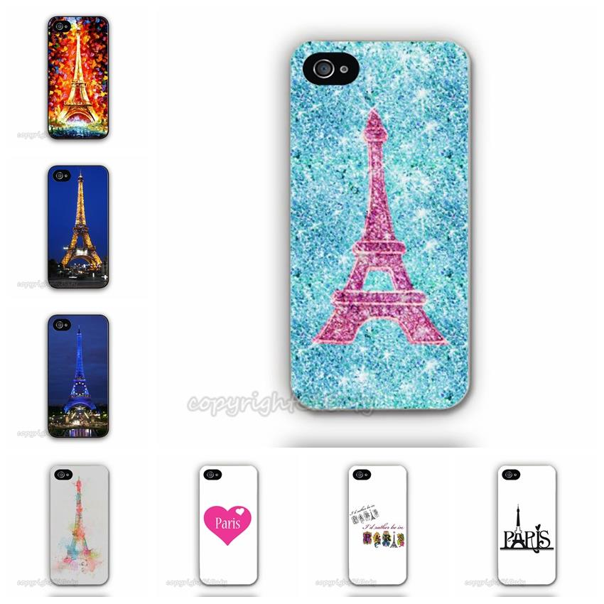 Impressionism Paris Saint Germain Eiffel Tower Plastic Cell Phone Case For Apple iPhone 5 5G 5S Custom Printed Mobile Cover(China (Mainland))