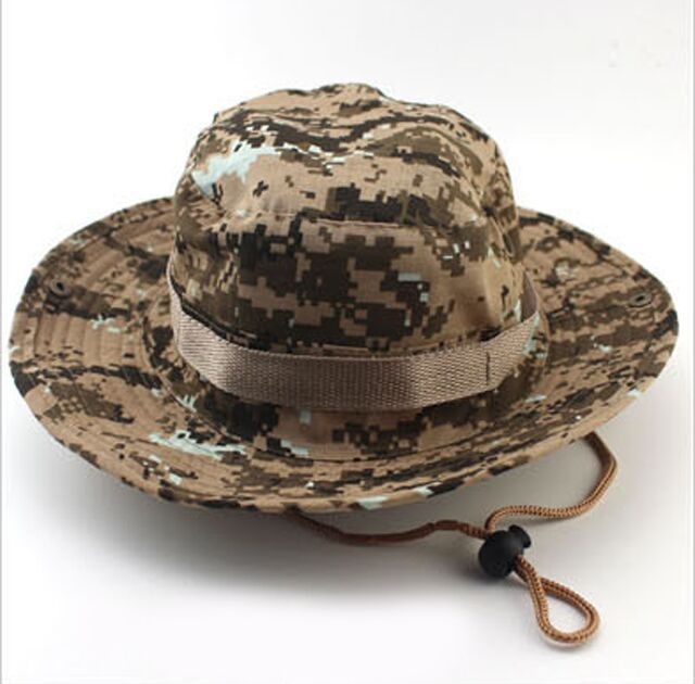 Bucket Hat Boonie Hunting Fishing Outdoor Cap - Wide Brim Military Boonie Hat(China (Mainland))