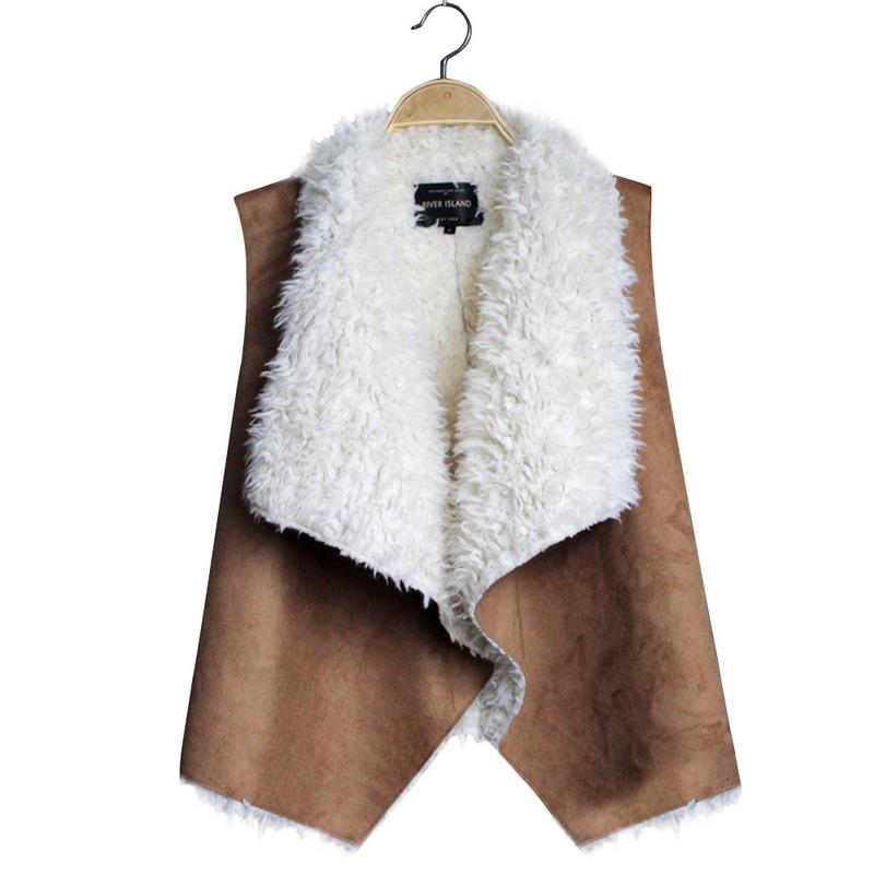 Гаджет  Free Shipping 2015 Women Top Sleeveless Fall Pu Leather Faux Fur Liner Vest Jacket Coat None Одежда и аксессуары