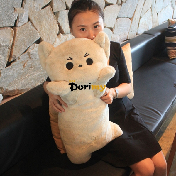 Dorimytrader Hot Item 26'' / 65cm Large Stuffed Soft Plush Cartoon Naughty Cat Pillow Toy, Nice Gift, Free Shipping DY60046(China (Mainland))