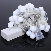 8 Flash Modes Ball LED String 10M RGB LED String Light with 60leds Holiday Decoration Party Wedding Home Decoration String Lamp(China (Mainland))