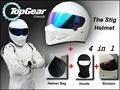 White Helmet Hood Hat Stickers Bag For Top Gear The STIG Helmet Colorful Visor as SIMPSON
