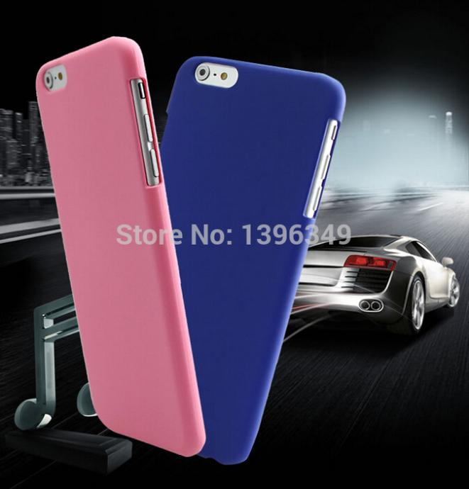 New Colorful Matte Hard Plastic Cell Phone Case for hard cover Case for iPhone 6 PLUS Free Shipping(China (Mainland))