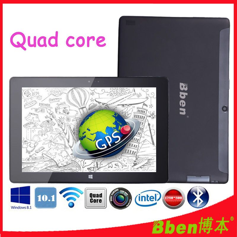Free shipping ! Super thin 10.1 inch capacitive screen laptop dual camera quad core intel z3735d windows 8.1 tablet pc 3G GPS(China (Mainland))