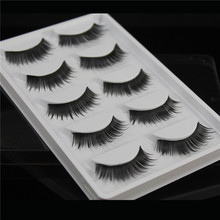 False eyelashes W32 Professional thick fake lashes nude makeup eyelashes extentions 5pairs per pack with model show(China (Mainland))