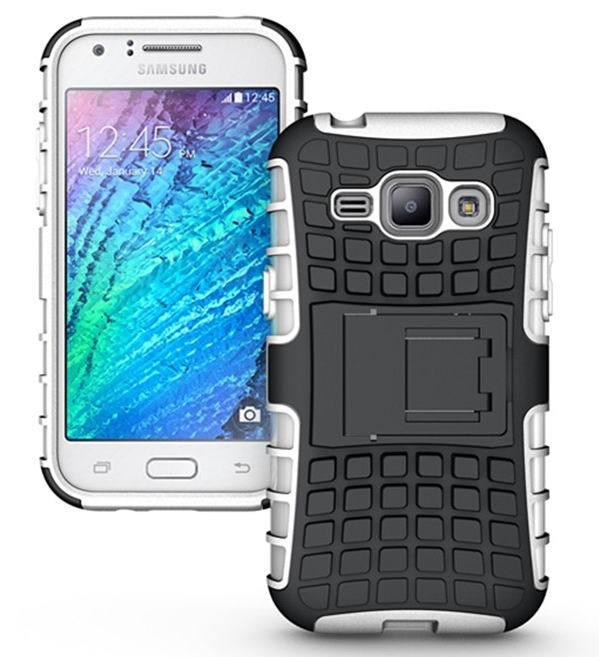 Rugged Hybrid Rubber Shockproof Kickstand Hard Case Cover For Samsung Galaxy J1 J100 J100F J100H(China (Mainland))