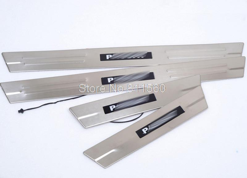 For VW PASSAT B5 B6 2003-2007 LED Stainless Scuff Plate Door Sill cover interior moulding trim