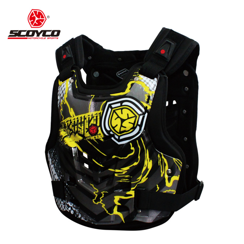 SCOYCO Professional Motocross Off-Road Racing Chest Back Body Protective Gear Guard Motorcycle Riding Armor Protector Vest(China (Mainland))