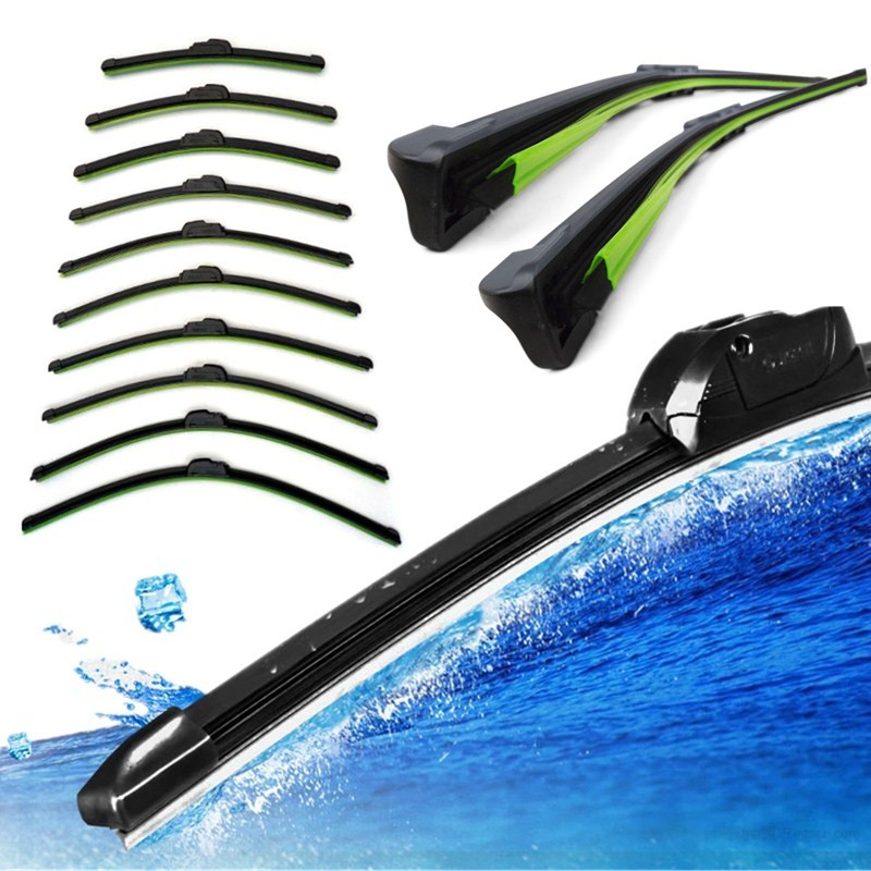 High Quality Brand New Car Flat U-type Frameless Bracketless Rubber Windshield Windscreen Wiper Blade(China (Mainland))