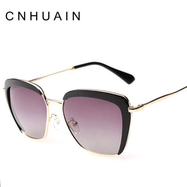Half Frame Glasses Benefits : Aliexpress.com : Buy CNHUAIN Womens Glasses Polarized Cat ...
