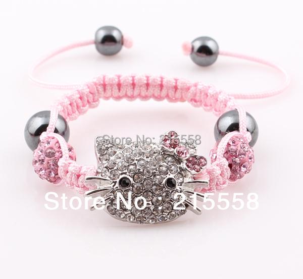 [해외]Children Hello Kitty Shamballa Bracelet Kids Child..