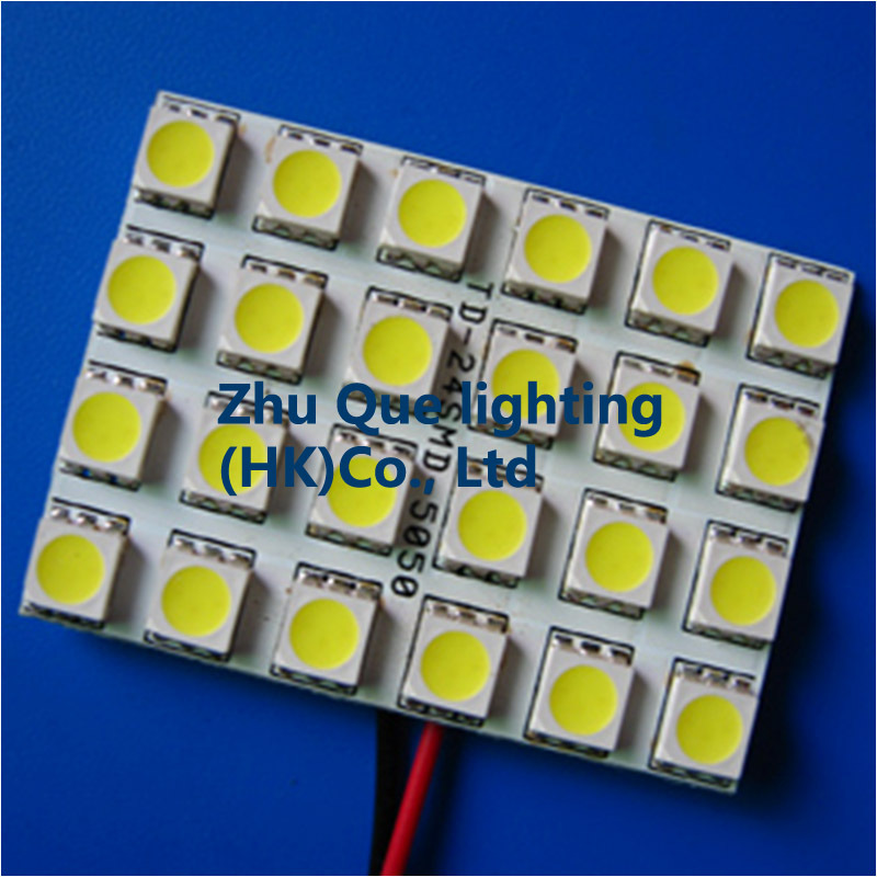 NEW100% Auto LED light Car panel interior lights 100PCSxPCB-P09-24SMD-5050 LED Panel lights for all car models& Free shipping(China (Mainland))