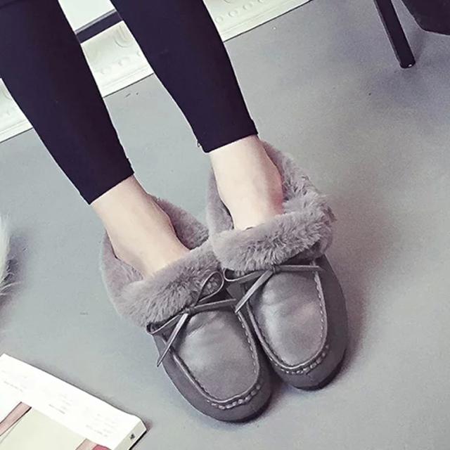 2015 Korean winter snow boots shoes Doug slip pregnant women shoes with velvet bow shoes warm shoes